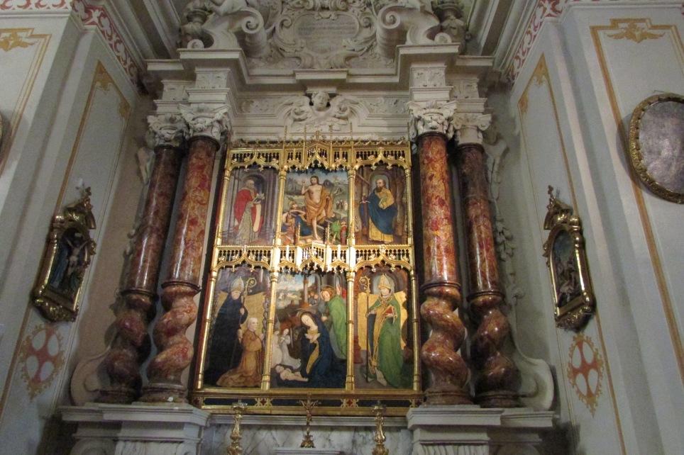 polittico dell'altare laterale di destra