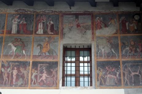 Affresco sulla parete della Parrocchiale