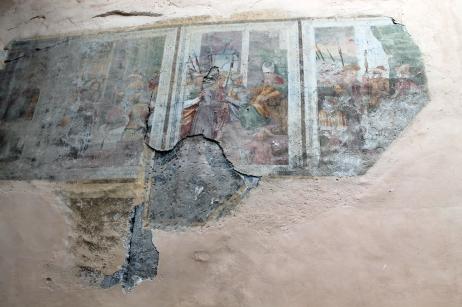 Affrescho sulla parete della Parrocchiale